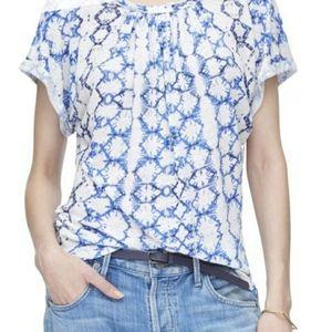 Rebecca Taylor Linen Tie Dye Top